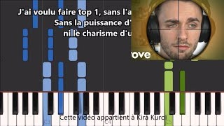 Squeezie - TOP 1 - Karaoke / Piano synthesia tutorial (+ Paroles et partition)
