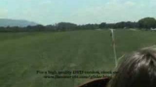 Glider airplane flight, approach and landing Pt. 3.