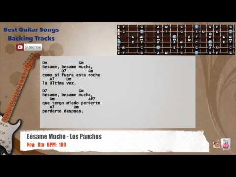 Besame Mucho - Los Panchos Guitar Backing Track with scale, chords ...