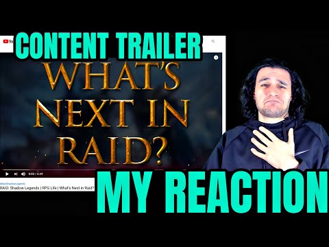 Reacting to AMAZING official Raid Shadow Legends Trailer!