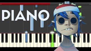 Gorillaz Sleeping Powder Piano Midi tutorial Sheet app Cover Karaoke