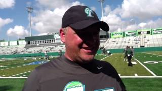 Tulane QB coach Aaron Price tells us what makes Nick Montana a great QB: video
