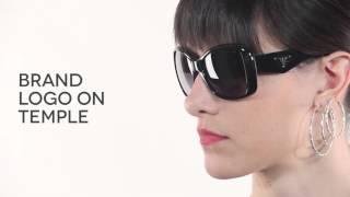 87df0e3a59 Prada PR32PS TRIANGLE Polarized 1AB5W1 Sunglasses Black ...