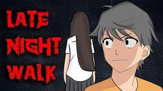 Scary Story Late Night Walk Animated In Hindi