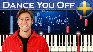 Benjamin Ingrosso - Dance You Off (Sweden 2018) | Piano tutorial | Eurovision Song Contest + MIDI