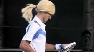 Novak Djokovic imitates Maria Sharapova [HD]