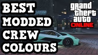 """GTA 5 - *BEST* """"Modded Crew Colours"""" EP.3 Feat. Iceberg, Ice Mint And More!"""