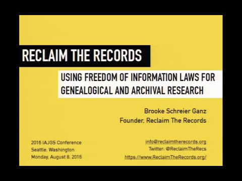 Reclaim the Records