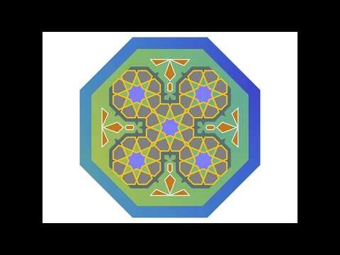 伊斯蘭的幾何拼貼 18B