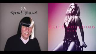 Ellie Goulding vs. Sia - Burn/Cheap Thrills