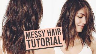 Messy Waves Hair Tutorial