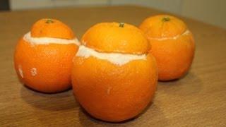 Cómo hacer naranjas heladas o helado de naranja en cascara