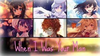 ⧔Nightcore⧕ → When I Was Your Man (Switching Vocals) |Lyrics|