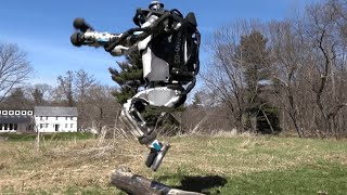 Robot built by Boston Dynamics can run and jump