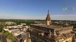 Cathédrale de Soissons dans l'Aisne vue du drone