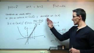 Imagen en miniatura para Teorema del valor medio - Lagrange