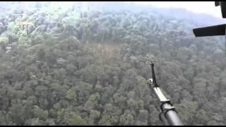 Video tomado por la Fuerza de Tarea Omega en la zona del accidente aéreo en La Uribe, Meta