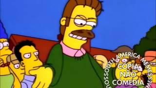 Ned Flanders 100% pistola com o boa noite de Marge