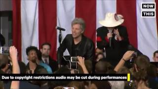 Livin' On A Prayer - Bon Jovi ft. Lady Gaga @Hillary Clinton Rally