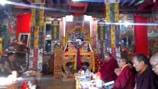 Karmapa at Chemde gompa - om mani padme hum