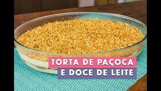 Receita - Torta de Paçoca e Doce de Leite