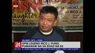 OPM Legend Rico J. Puno, pumanaw na sa edad na 65