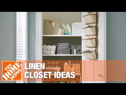 Watch this video on how to organize your linen closet.