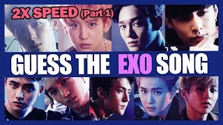 [K-POP Games🎮] Guess the EXO Song Challenge (2X SPEED) | Part 1