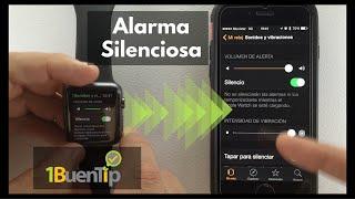 Crea una alarma silenciosa en tu Apple Watch