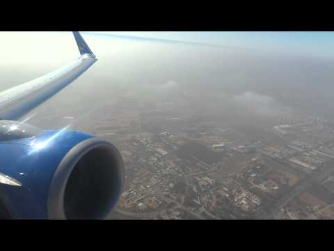 Aerosvit take-off from Ben-Gurion airport to Kyiv