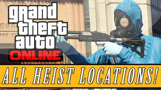 GTA 5 Heists | All Heist Mission Locations - Prison Break Heist Confirmed & Yacht Hijacking Heist?!