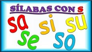 Sílabas con S para Niños, sa se si so su, Ejemplos y Música, Syllables in Spanish for Children