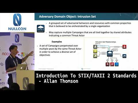 Introduction To STIX/TAXII 2 Standards | Allan Thomson