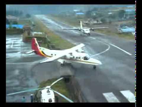 El aeropuerto de Lukla (Nepal)
