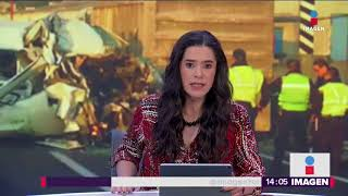 Así fue el terrible choque en la autopista México-Pachuca   Noticias con Yuriria Sierra