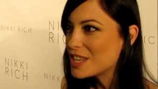"2013 Nikki Rich Fall/Winter Fashion Show - Kate Kelton ""HAVEN"" shows off dress"