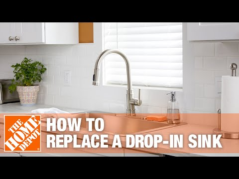 A kitchen sink in a home