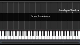 (How to Play) Pacman Theme (Intro) on Piano (100%)