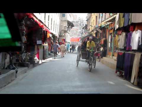 NEPAL 2009   #1 ulice Kathmandu z taxi