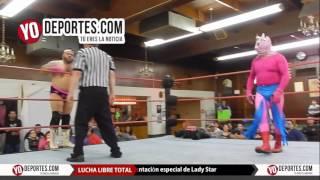 Dante DVS el Cuerpo del Deseo vs Baby Girl y Lady Star Lucha Libre Total