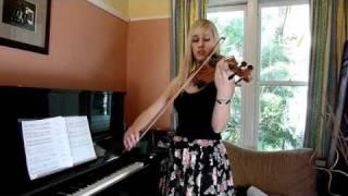 Lara plays Vampire Killer from Castlevania on violin