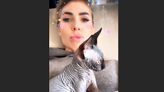 Ilary Blasi con il suo nuovo stranissimo gatto! STORIES