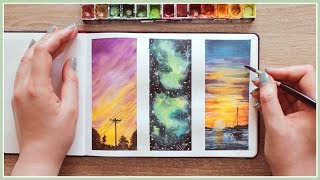 Watercolor Painting Ideas for Beginners | Wet in Wet Technique | Art Journal Thursday Ep. 39