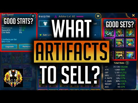 RAID: Shadow Legends | What Artifacts to sell and how to use the Artifact filter to speed it up!