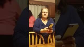Portuguese mom talking to Siri