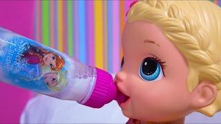Baby Alive Lily Arrota Depois de Mamar 2x na Sua Mamadeira do Frozen!!! Em Português Max Kids