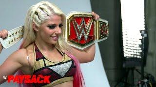 Primera sesión de fotos de Alexa Bliss como campeona de Raw