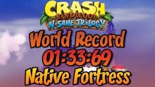 Native Fortress (Former WR) 01:33:69 + Cycle Manipulation Tutorial - Crash Bandicoot N Sane Trilogy