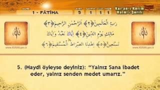 1  Sure   Fatiha Suresi