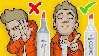 The CHISEL TIP Art Challenge! - No Brush Allowed!